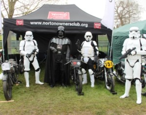 Darth Vader and his men looking after our sbikes
