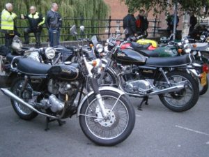 The Twigworth bikes having a rest
